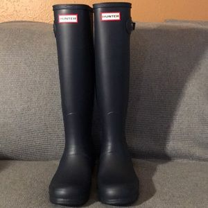 Hunter Tall Rain Boots Navy blue matte